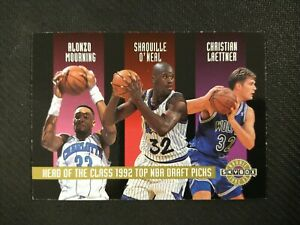 1992-93 SkyBox Head of the Class Shaquille O'Neal Ellis Laettner Mourning