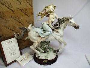 "New Giuseppe Armani Florence ""Liberty Girl On Horse Back Riding"" Figurine w/COA"
