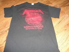 METALLICA SHOW YOUR SCARS 2009 INDIANAPOLIS, IN. CONCERT T-SHIRT SIZE SMALL