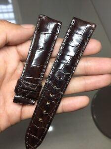 20/18 mm Genuine-ALLIGATOR-CROCODILE-SKIN-WATCH-STRAP-BAND