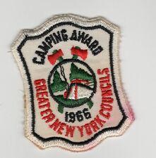 Camping Award 1966 Greater New York Councils Shield Shape Odd Shape 700923