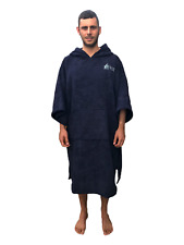 Blue Changing Dry Robe Poncho Beach Swimming Adult Large and Extra-Large