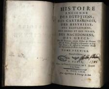Histoire ancienne des Egyptiens Carthaginois Assyriens Babyloniens tome 1er 1759