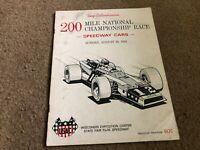 #MISC-3630 AUG 23 1970 200 MILE NATIONAL RACE MILWAUKEE car racing program