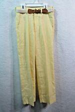 New Vintage Boys Tom Sawyer Yellow Pants Size 10 Slim