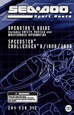 Sea-Doo Owners Manual Book 2004 CHALLENGER X