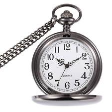 Reloj De Bolsillo Vintage Cuarzo Reloj Fob clásico con cadena corta en Caja De Regalo