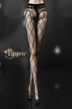 "ELENPRIV black rhomb pattern mesh tights for Fashion Royalty FR2 dolls 12"" dolls"