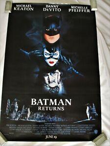 BATMAN RETURNS 1992 original rolled 27X40 one sheet poster