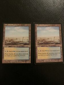 2 Skycloud Expanse Magic The Gathering Land Cards - Odyssey