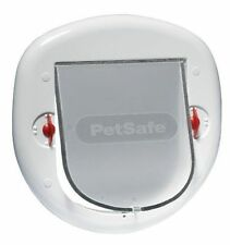 Staywell 4 Way Locking Pet Door White Cat and Dog Flap - 280EF