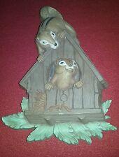 Vintage 1977 Homco Home Interiors 7493 Squirrel Plastic Wall Art