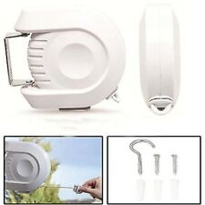 12M Retractable Clothes Indoor/Outdoor Reel Washing Line Double Dryer Wall New