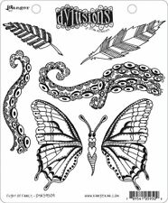 Ranger Ink Dylusions Stamps Unmounted Rubber Stamps Flight of Fancy dyr59509