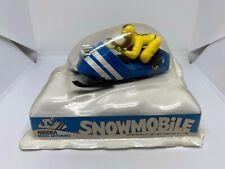 Aurora Model Motoring - Snowmobile - Blue/Yellow - HO Slot Car