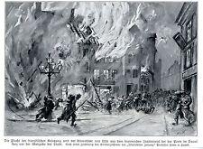 H.v.Hayek FLUCHT AUS LILLE PORTE DE DOUAI Kriegsmaler * War Artist * 1914