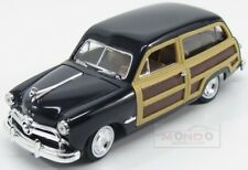 Ford Usa Woody Station Wagon Sw 1949 Blue Wood MotorMax 1:24 MTM73260BL