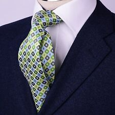 Green Pattern Excellence Neck Tie 8CM Sexy Luxury Designer Fashion