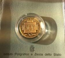 MONETA ORO - CONIAZIONE AUREA 1997 - LIRE 50.000 - S.Ambrogio