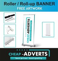 Roller Banner with Print and Artworks - Roll up/Pull up Display Stand 85cm x 200