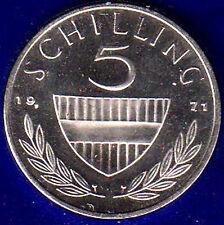 AUSTRIA 5 SCELLINI 1971 Fdc Unc #4583A