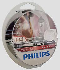 2x h4 PHILIPS VISION PLUS VisionPlus à 60% Plus De Lumière 12342vps2