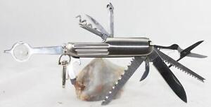13 Blade + 2-Pocket Utility Knife/Tool-Stainless-Belt Clip-Nonbranded