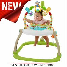 Fisher-Price Rainforest Spacesaver Jumperoo│Portable/Adjustable Baby Bouncer│New