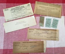 1942 Individual Income Tax Return, Instruction Sheet, Letter & Receipts WWII Era