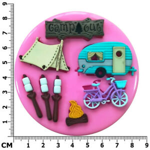 Camping & Caravanning Fire Marshmallows Bike Silicone Mould by Fairie Blessings