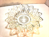 Vintage Clear Glass Candy Dish or Bowl - Flower Floral