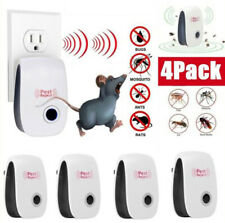 More details for 4pc plug-in electronic ultrasonic pest repeller anti rat mouse bug mosquito flea