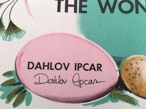 Artist Signed Dahlov Ipcar 1958 Dinosaurs Childrens Book The Wonderful Egg