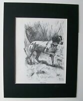 Pointer Dog Print Gladys Emerson Cook At Work Hunt Bookplate 1962 11x14 Matted