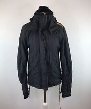 Superdry Windcheater Jacket With Hood Grey & Yellow Fleece Lined Womens Small