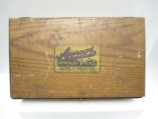 Hinckley Myers Approved Automotive Equipment Empty Wooden Tool Box Jackson Mich