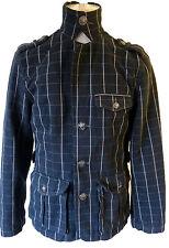 Steampunk plaid checkered gothic blazer black leopard crown button embroidered