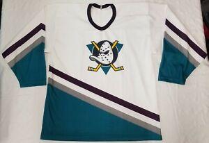 Anaheim Mighty Ducks NHL CCM hockey jersey Men sz L 90s vintage Maska