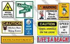 UPDATED!!  10 Disney Cruise Line Signs Door Magnets - Group N