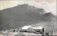 Ansichtskarte PK sw Riesenbaude Schneekoppe Riesengebirge Schlesien ungelaufen