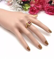 Wedding Engagement Ring U.K. Size:P Gold Plated Ring CZ Cubic Zirconia