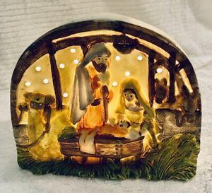HOLY FAMILY NATIVITY JOSEPH, MARY & BABY JESUS LIGHT-UP STARS