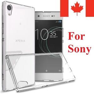 For Sony Xperia XZ1 XA1 XA Ultra X Performance Case - Clear Thin TPU Back Cover