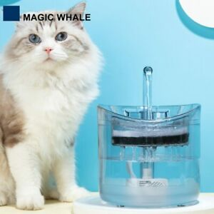 2L Automatic Cat Water Fountain Faucet Dispenser with 1 Filters Motion Sensor