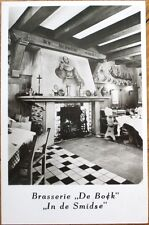 Amsterdam, Netherlands 1954 Realphoto Postcard: Restaurant/Brasserie De Bock