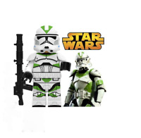 NEW STAR WARS COMMANDER GREEN CLONE TROOPER MINI BUILDING BLOCK USA SELLER
