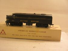 American Models Western Maryland 303 S Scale FA Diesel Locomotive
