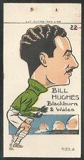 Sunday Empire News 1953 Famous Footballers #22- BLACKBURN - BILL HUGHES     N1