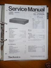 Service MANUAL TECHNICS sl-p202a lettore CD, ORIGINALE