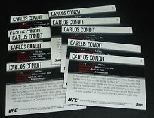 Carlos Condit UFC 2012 Topps Knockout Card #2 158 154 143 132 120 115 WEC 35 26